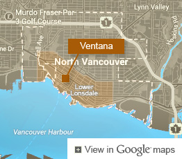 Map of Ventana Condo Building in North Vancouver 175 W 2nd St